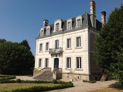 Photo for Large Luxury villa in the heart of the Loire with heated pool and private garden