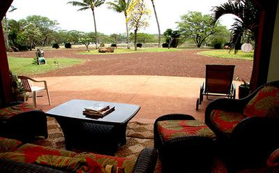 Living area view of grounds