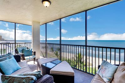 This top floor (6th floor) corner unit is on the beach and overlooks the pool!