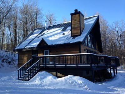 Photo for Classic Vermont Ski Chalet surrounded by Green Mountain National Forest.