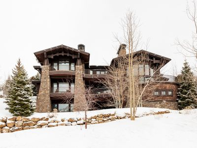 Photo for Exclusive luxury ski-in ski-out home with glass elevator, home theater, sauna and private hot tub