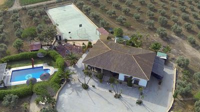 Photo for Villa Rey, Ardales WITH POOL AND TENNIS, 7 kms Caminito del Rey