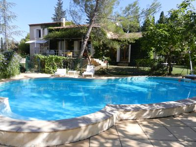Photo for Traditional Provencal Mas, sleeps 6-10, very quiet, pool, park, St-Remy
