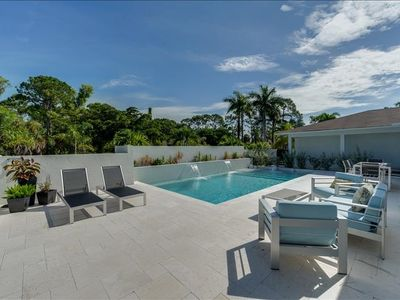 Photo for Modern, Contemporary Pool Home ** Less than 1.5 miles to Beach **