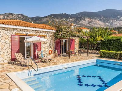 Photo for Ten minutes walk to shops and restaurants, the beach a further 20, Margarita offers splendid sea views, a charming stone built exterior, lovely swimming pool and terrace and modern decor inside. Surrounded by countryside, a peaceful haven.