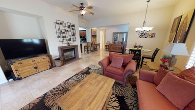 Photo for A Spacious Single Story Legacy Villas Townhome with Western Mountain Views
