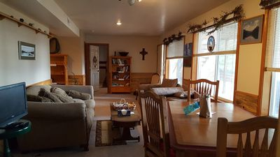 Photo for Nice Clean Suite 1 Block from Flathead Lake with full views of Lake/Mountains