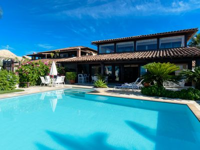 Photo for Beautiful house with five suites, walk in the sand of Geribá, condominium with security
