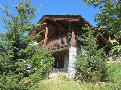 Photo for Luxury ski chalet (8p) to the slope with a beautiful view