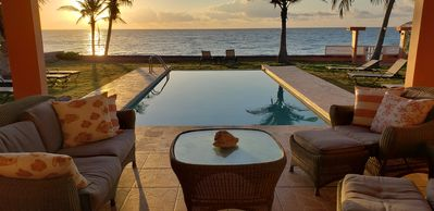 Photo for Ocean Front 1st floor Villa, Infinity pool, Sleeps 8, near Palmas del Mar