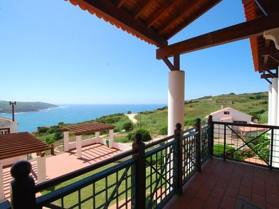 Photo for Seasons - Beautiful three bedroom duplex with views over pool and sea