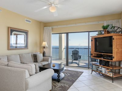 Photo for Waterfront corner condo with wrap-around balcony & shared outdoor pool