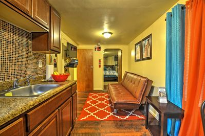 This apartment is the perfect place to relax after a day in the bustling city.