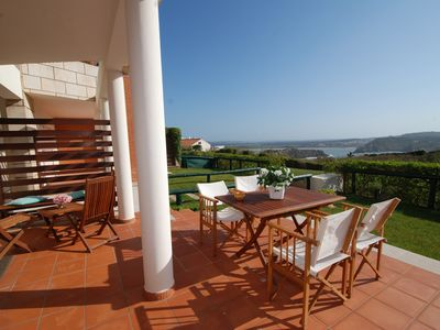Photo for Beacon - Seaview apartment in complex with 3 pools, mini-golf, 1km to the beach