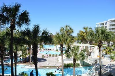 Balcony View of the Lazy River and Pools!