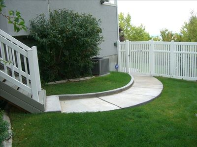 Private walkway to unit
