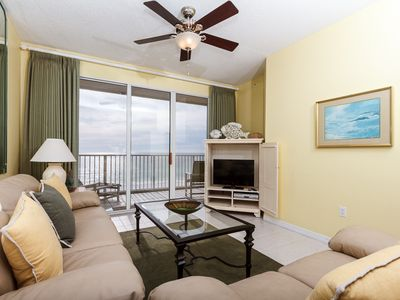 Photo for GD 502: Spacious beach condo-WiFi,full kitchen,pool,BBQ,FREE BCH SERVICE