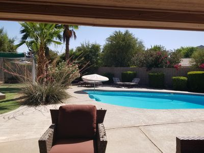 Landlord includes pool and landscape services.