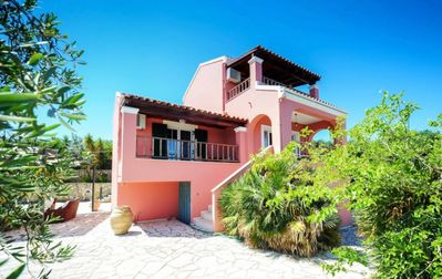 Photo for Villa Darius - Lovely Villa with Private Pool, Airconditioning, Stunning Views over the Ionian Sea, only 900 Meters to the Beach ! FREE WiFi