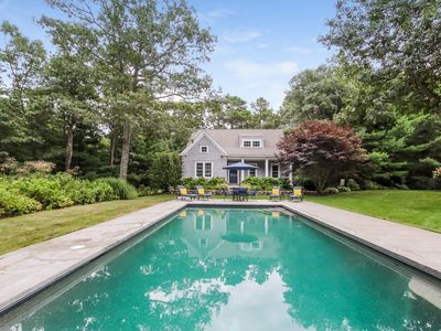 Photo for Osterville home with heated pool and guest home.