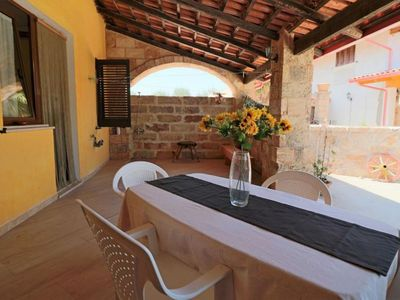 Photo for Casa Vacanza Tromba apartment in Racale with WiFi, integrated air conditioning & private terrace.