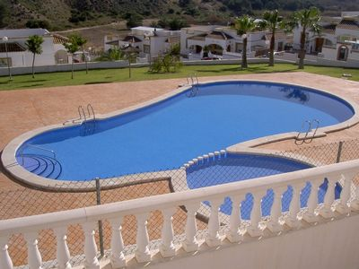 View of pool from villa.