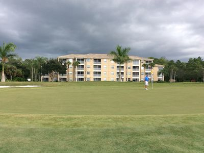 View of our condo building from 7th green