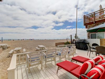 Photo for Updated and spacious two-level oceanfront beach house - right on the sand