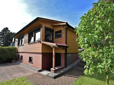 Photo for Nice, detached wooden house in the Thuringian Forest with a magnificent view