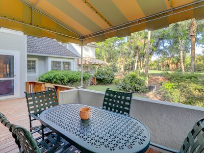 Photo for Dog-friendly, waterfront villa w/ a shared, outdoor pool, tennis, & on-site golf