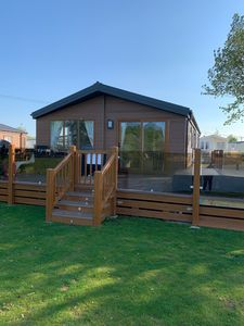 We have 2 lockable gates on our decking. Fitted lights in the decking.