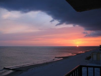 Enjoy beautiful sunsets from the balcony