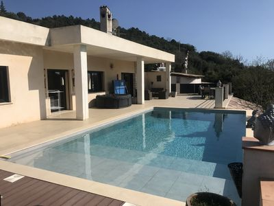 Photo for VILLA Heated pool, for 11 PEOPLE near MONACO and nice