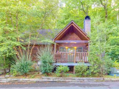 Photo for ★★  Cute+Cozy Cabin Nestled in the Mountains ★ Close To Town ★ Hot Tub ★ Wifi ★★