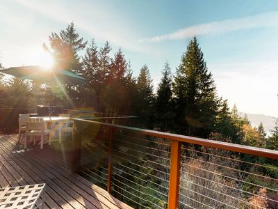 Photo for Beautiful, secluded home w/ bay views - watch the sunset from your deck