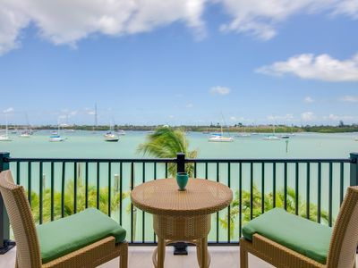Photo for NEW LISTING! Relaxing studio with dock, rooftop patio, and stunning water views!