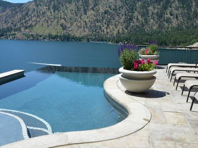 Photo for Infinity Heated Pool & Unobstructed lake view from all rooms - Lake Chelan, WA