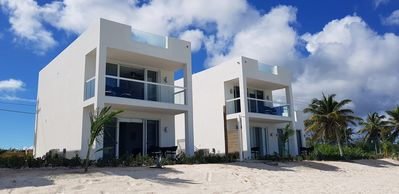 Photo for Beach Front 2-Bedroom combo, direct beach access and private rooftop terrace