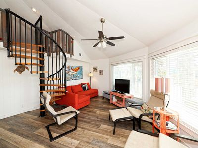 Photo for Pool view house in Sunday Villas Pets Welcome Short walk to beach.
