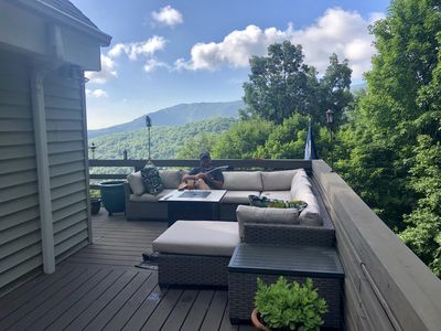 Photo for JULY SUMMER SALE - Escape the heat with views of Grandfather Mtn.