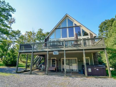 Photo for Mountain Chalet in lake area w/ hot tub, pool table, & fire pit!