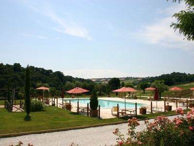 Photo for Ideal for a couple with a child, with park, swimming pool, near the sea