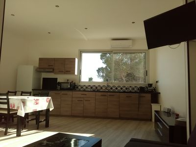 Photo for 65 sqm apartment & outdoor courtyard, view of the pine forest