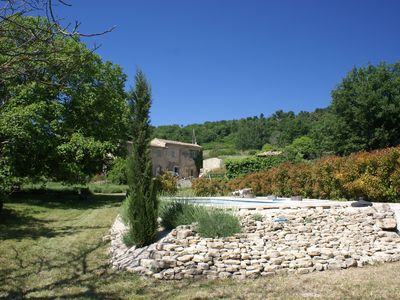 Photo for Beautiful renovated Mas with pool, stunning view of the Luberon, very quiet