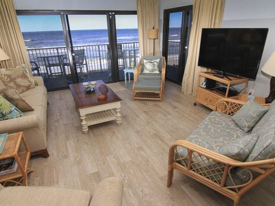 Photo for Direct Oceanfront Serenity, No-Drive Beach, Newly Renovated, Professional Decor