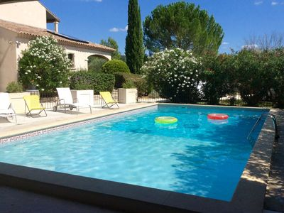 Photo for Close to Uzes comfortable house capacity 8 people, fenced pool and garden