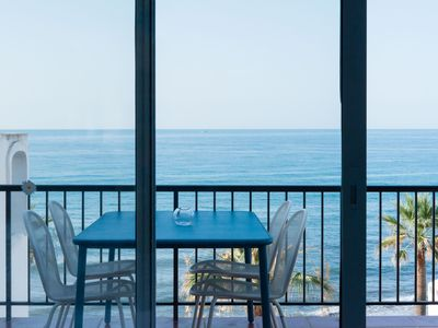 Photo for Wonderful newly renovated apartment first line by the sea with breathtaking view