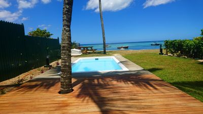 Photo for Caro's Beachfront Villa with private pool at Trou aux Biches beach to rent