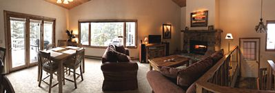 Panoramic view of Dining and Living Room