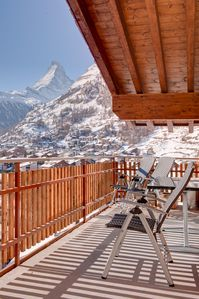 Photo for Open-plan 3 Bedroom Loft Apartment With Stunning Views Of The The Matterhorn.
